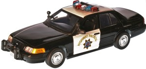 Ford Crown Victoria Interceptor Police Light & Sound Motor Max 1:18