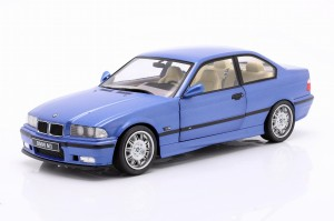 BMW M3 E36 Coupe 3er 1990 Estoril Blue Solido 1:18