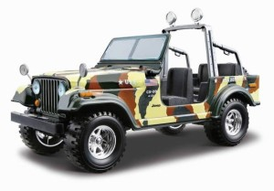 Jeep CJ-7 Army 1980 Bburago KIT 1:24